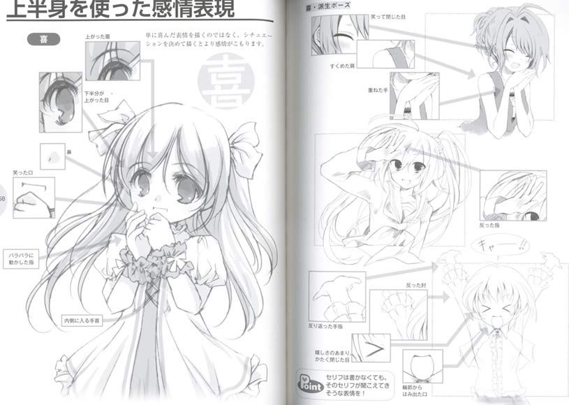 How To Draw Manga Moe Character Gesture Emotion Manga Drawing Drawings Book Drawing