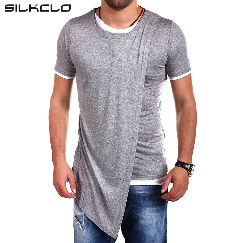 mens haircut Asian Size Brand Clothing Fashion long style irregular  Designed Short Sleeves T shirt For Men Casual Tops Men's t shirt Street **  AliExpress ...