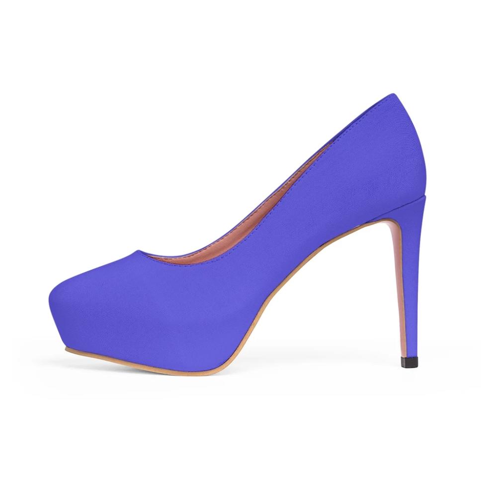 Bright Purple Heels Solid Color Print Luxury Best Women S Platform Heels Us Size 5 11 Heels Platform Heels Purple Heels