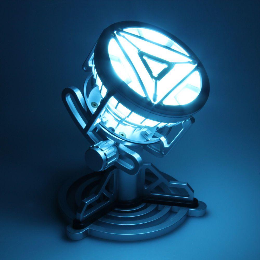 1:1 Marvel Avengers Iron Man Tony Heart Chest Lamp Ark Reaction Furnace