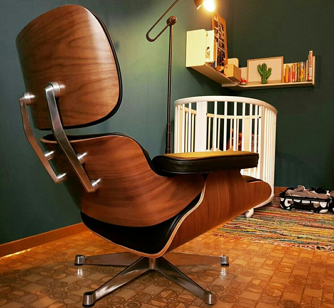 Vitra Lounge Chair Replica classic lounge chair & ottoman black (with images) | chair
