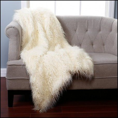 Faux Fur Throw Rugs