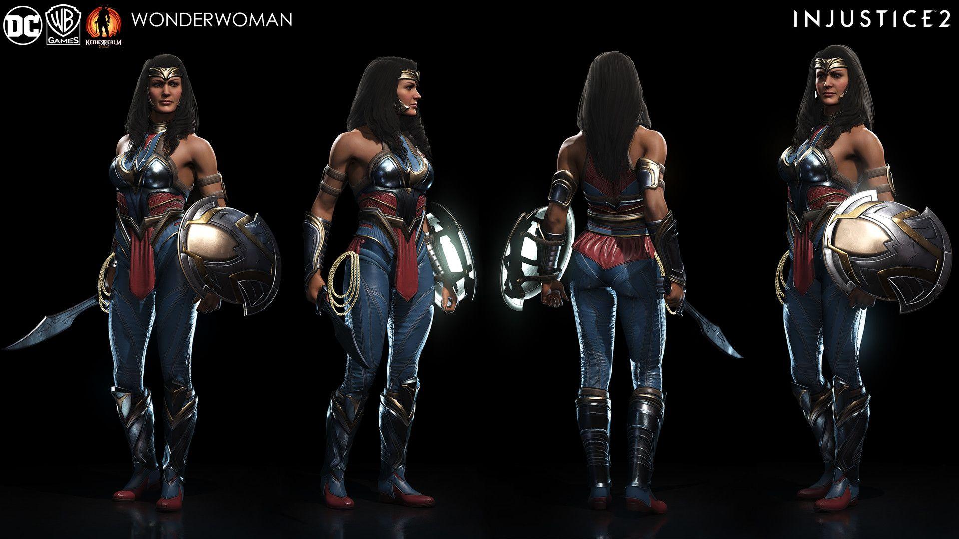 ArtStation - Injustice 2 - Wonder Woman, Solomon Gaitan ...