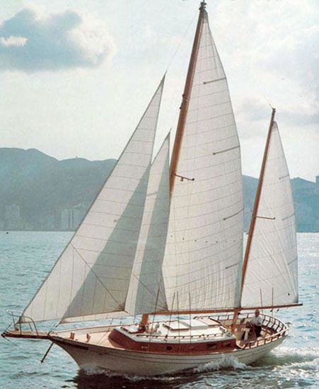 Clipper-bowed cutter-rigged ketch, by Cheoy Lee in 2019 | Sailing