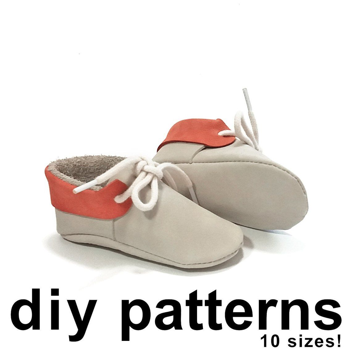 f705570296367 Baby moccasins with lace closure patterns diy baby moccassins pdf ...