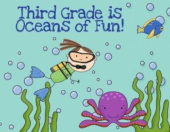 Back to School Postcards- Beach/Ocean Theme