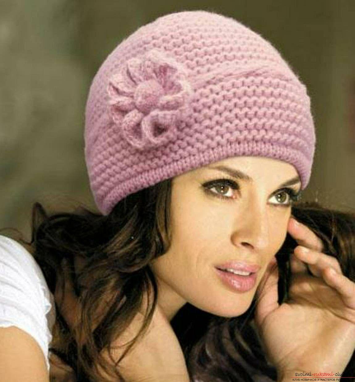 схема вязания зимней шапочки для девочки 5-6 лет спицами