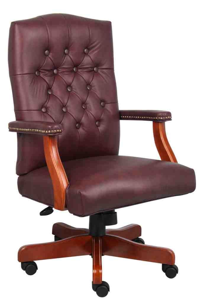 burgundy leather office chair l i h 156 leather office chair