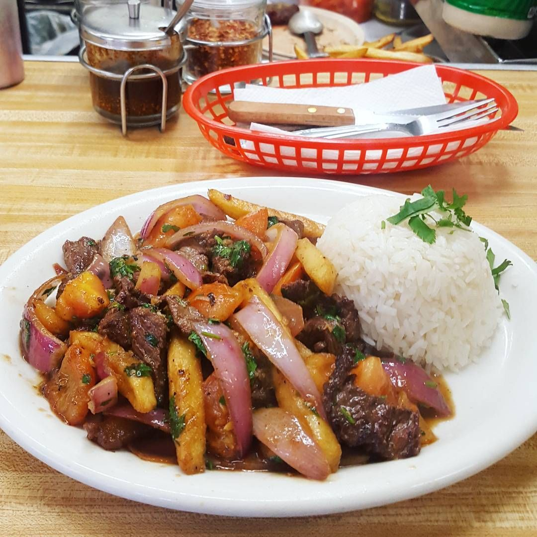 The Best Peruvian Restaurants In Los Angeles Are Serving The Best Lomo Saltado And The Best Ceviche La Has To Offer Fro Mexican Food Recipes Food Lomo Saltado