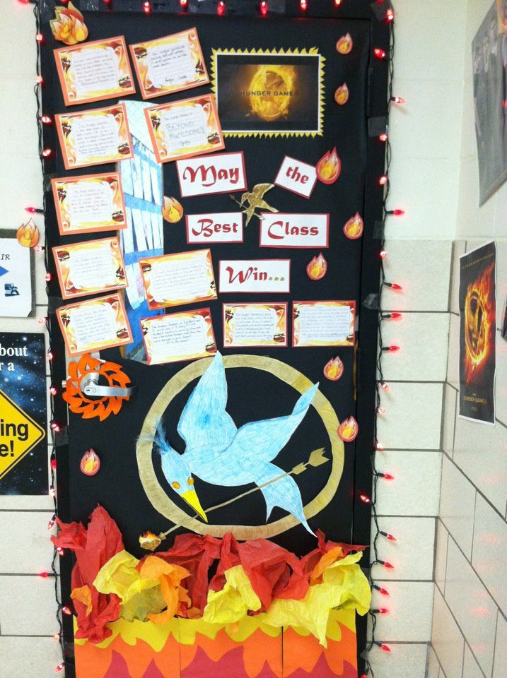 School Classroom Decor Games : Door decorating hunger games theme teaching ideas