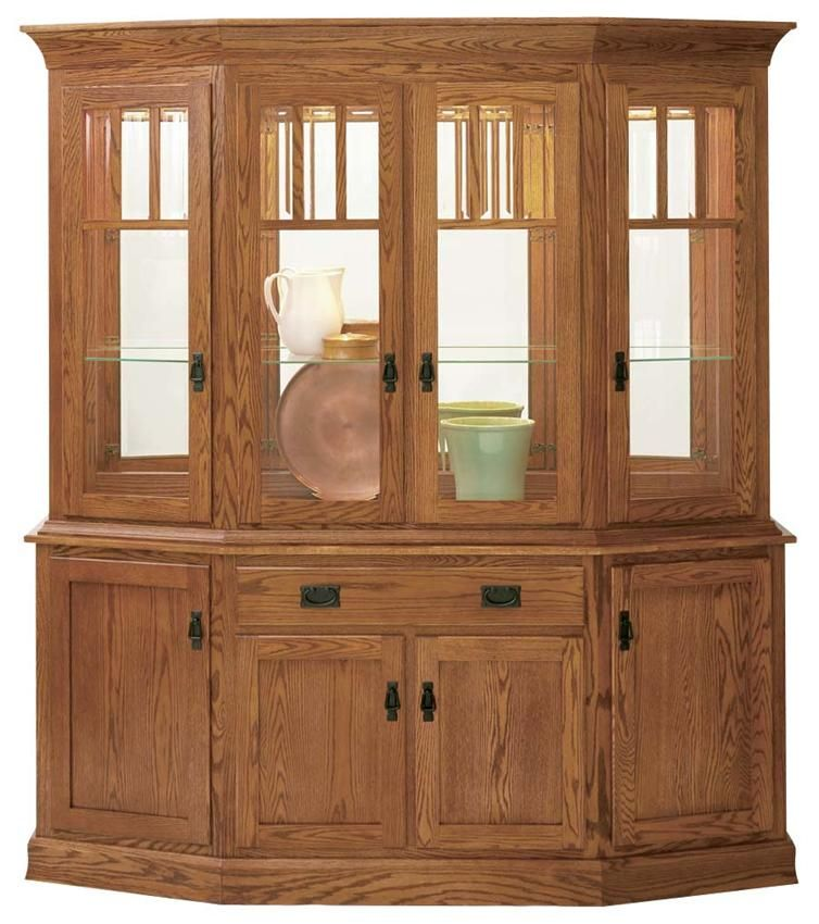 Amish Mission Canted Hutch