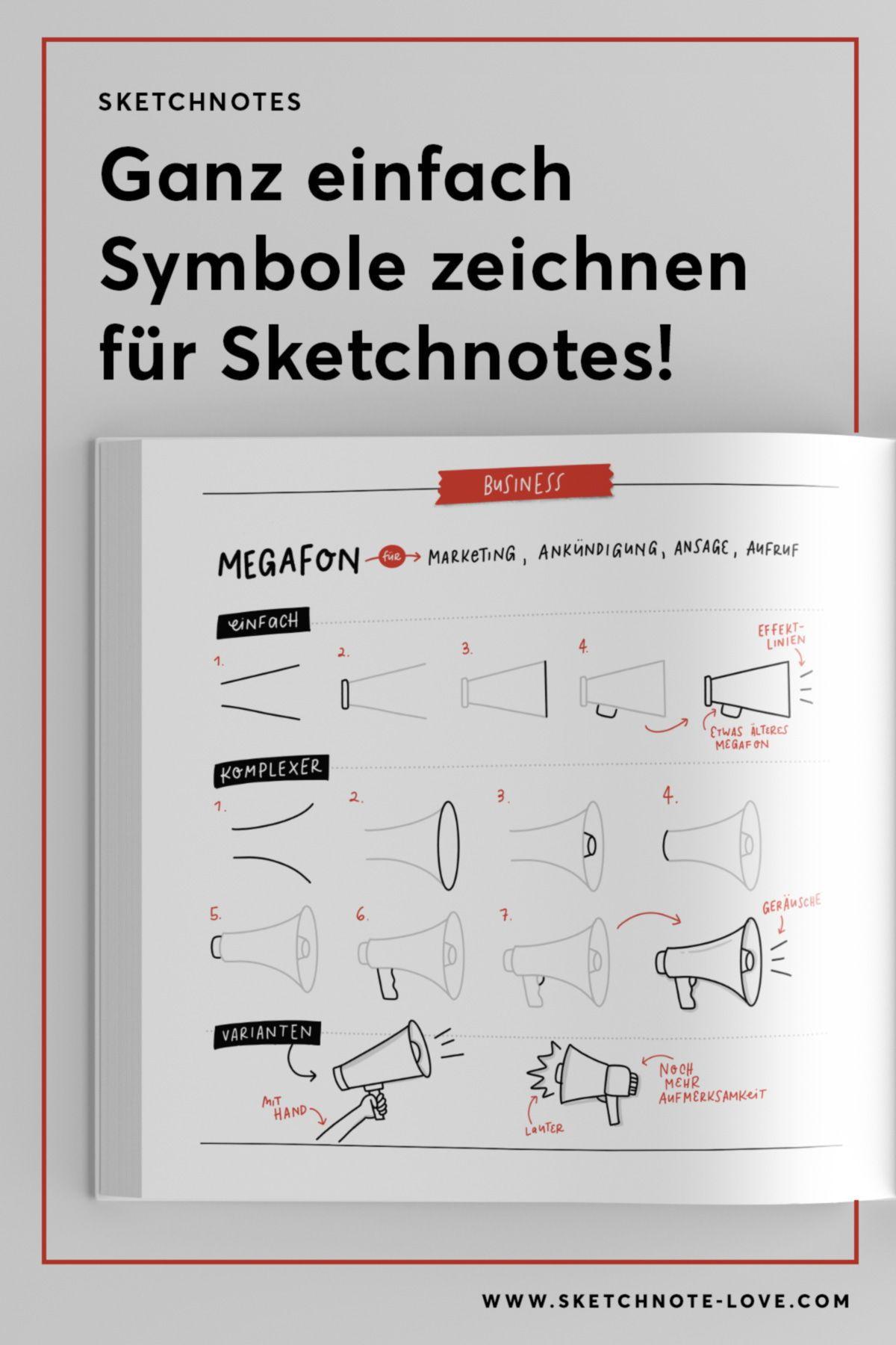 Sketchnotes Die Grosse Symbolbibliothek In 2020 Zeichenanleitungen Journaling Ideen Grafik Erstellen