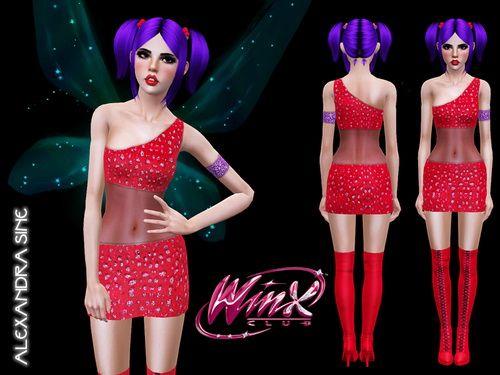 Winx Club S1 Musa Costume by Alexandra - Sims 3 Downloads CC