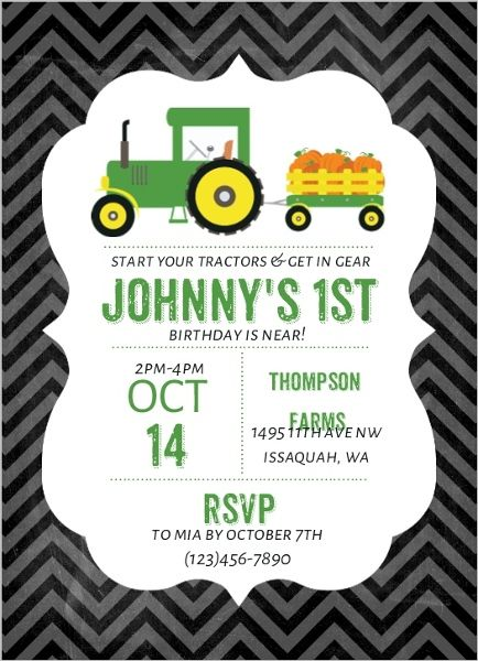 Pumpkin patch tractor birthday party invitations by purpletrail pumpkin patch tractor birthday party invitations by purpletrail filmwisefo Choice Image
