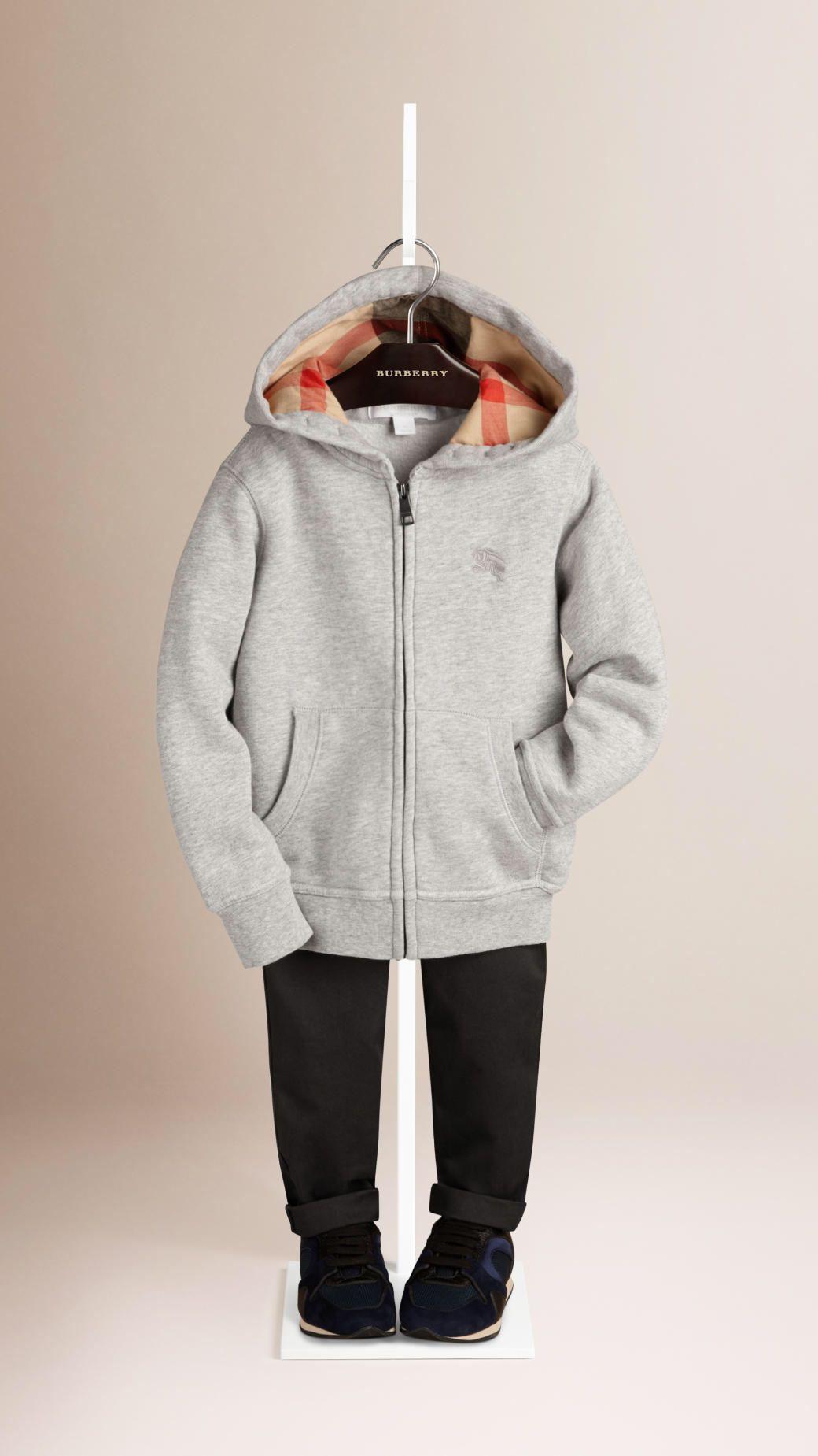 burberry hoodie kids white