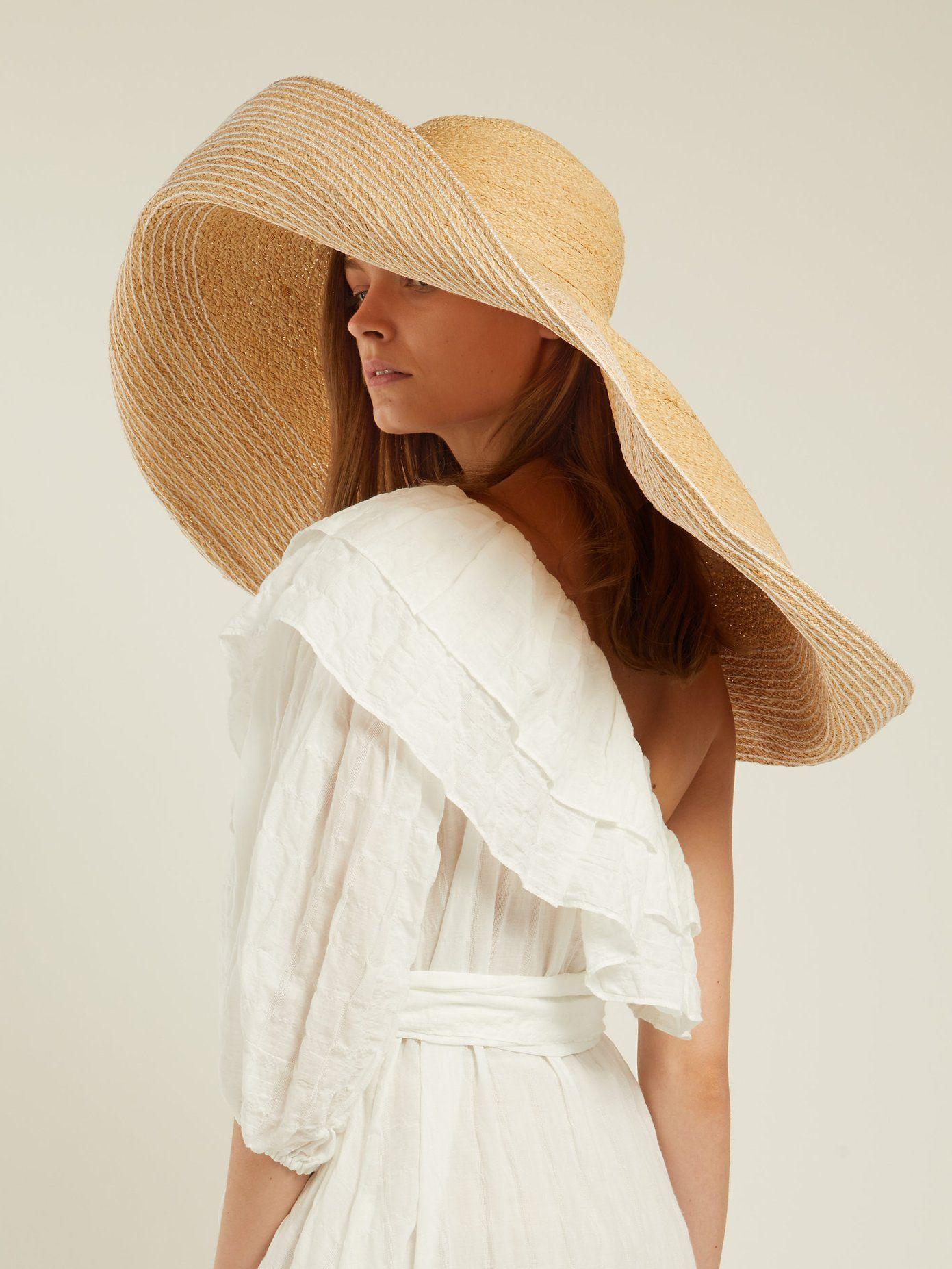 Women/'s Organza Ribbon Straw Sun Hat Packable dress casual wide brim Hat