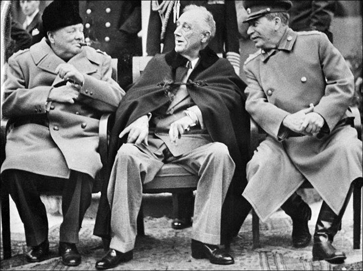 Yalta Conference Meeting Feb 4 11 1945 At Yalta Crimea Winston