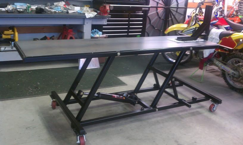 Homemade Motorcycle Lift Table Deminsions
