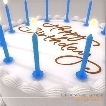 Birthday Cake 3D Model Birthday Cake with candlesOnly cinema4d R10