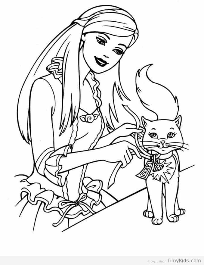 http://timykids.com/printable-barbie-coloring-pages.html | Colorings ...