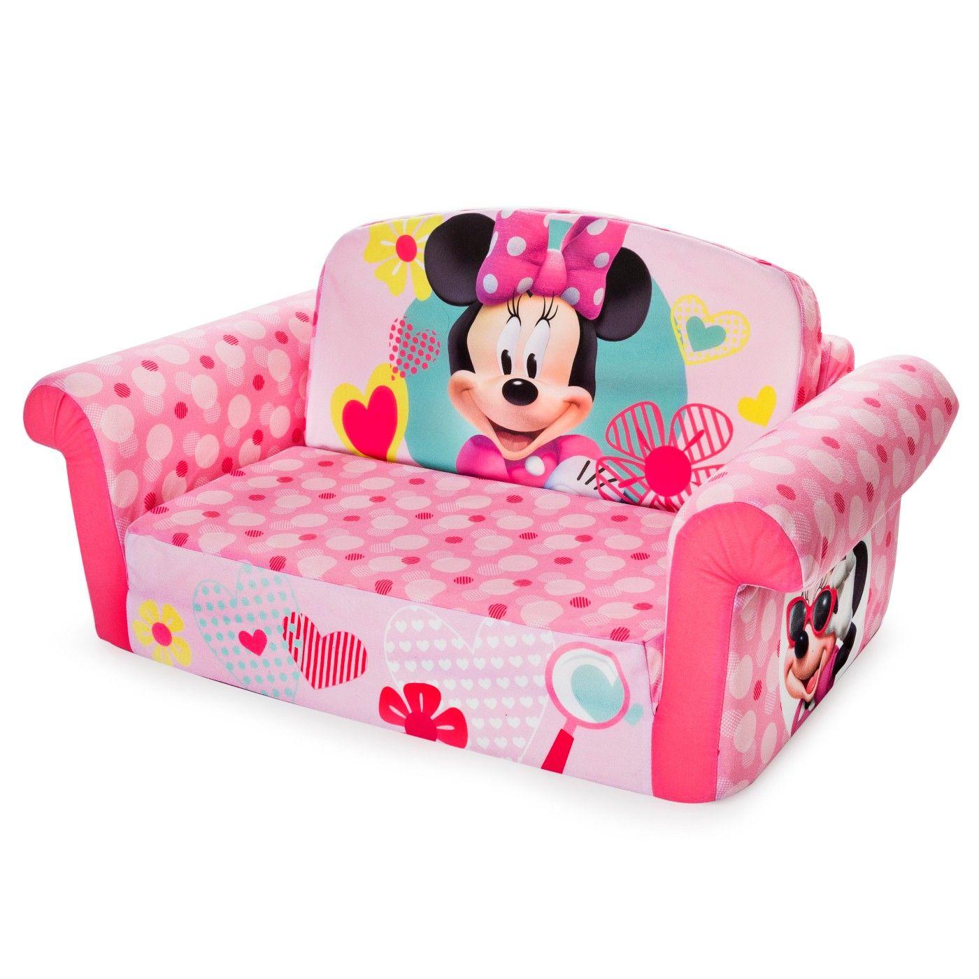 Marshmallow Furniture Childrens 2 In 1 Flip Open Foam Sofa Minnie