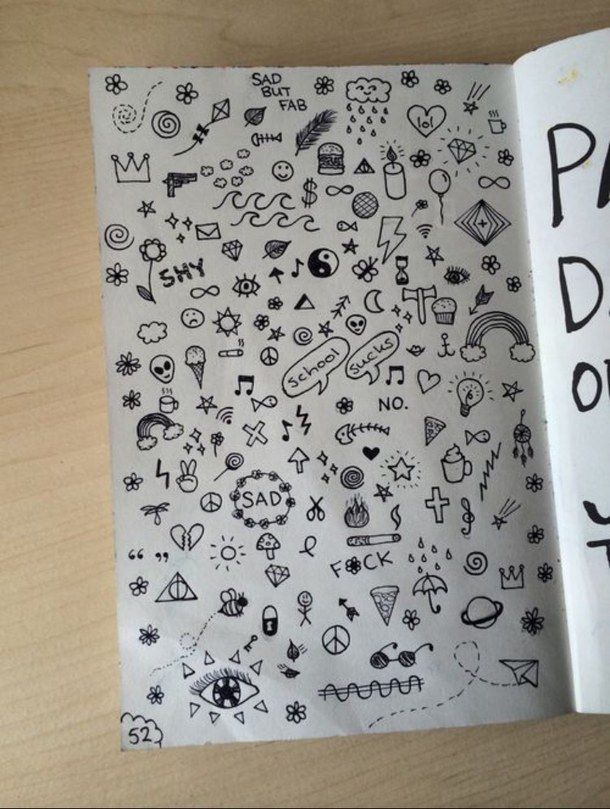 Draw Tumblr Journal Grunge Doodles Tats Pinterest Drawings