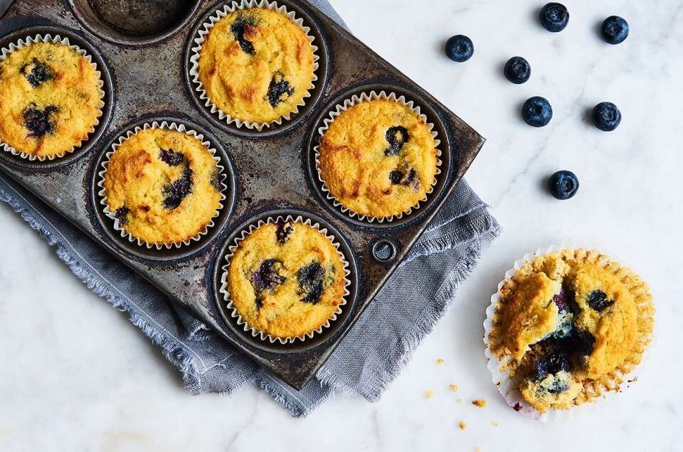 GlutenFree Blueberry Muffins Made with Coconut Flour