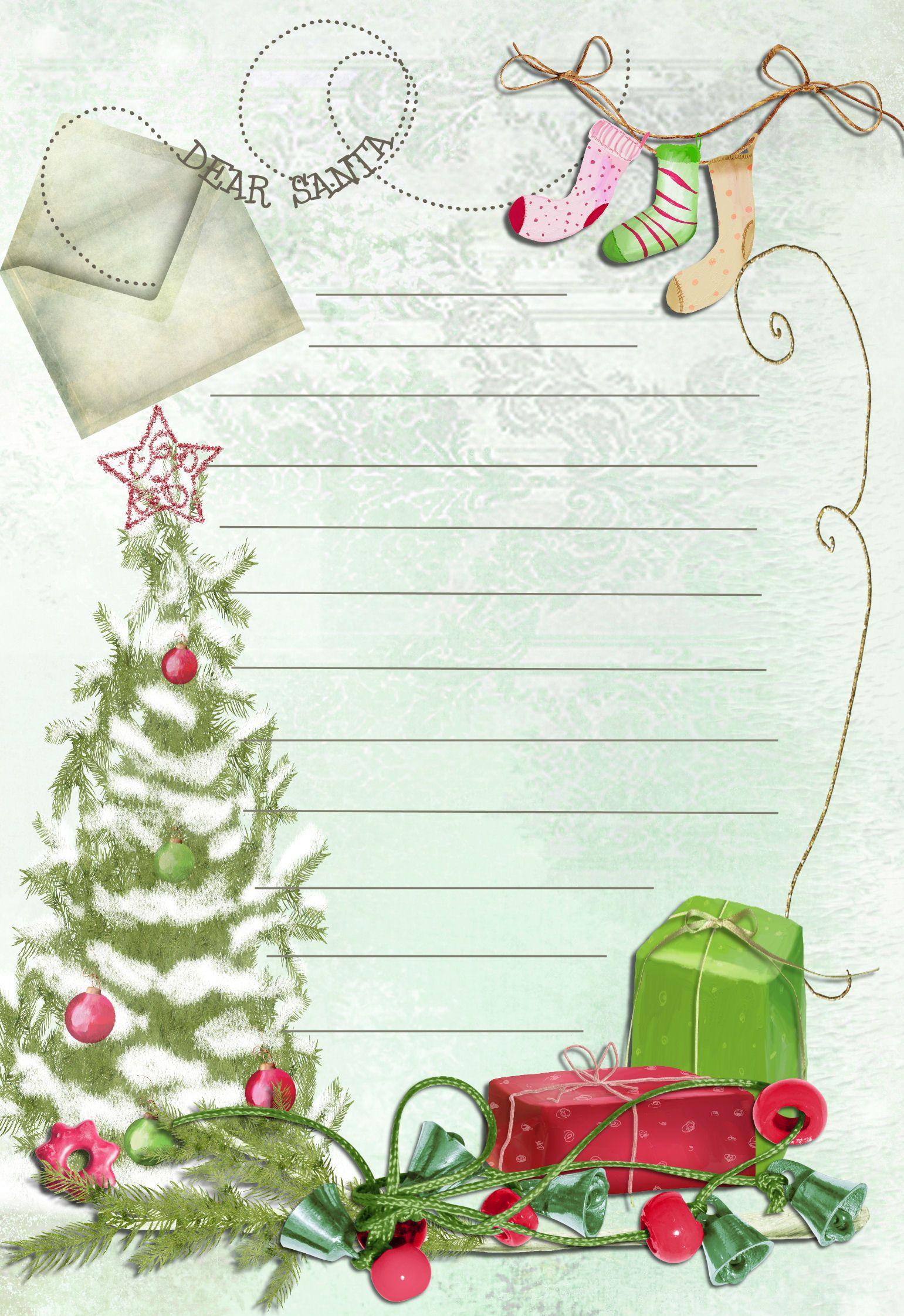 Free Christmas Letter Templates Printable Yfgit