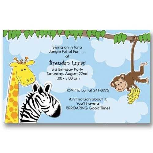 Jungle zoo birthday invitations zoo birthday birthdays and birthday party ideas filmwisefo Image collections