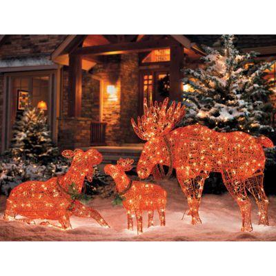 Moose Family-Set of 3 Dream Home Pinterest Moose, Christmas - moose christmas decorations