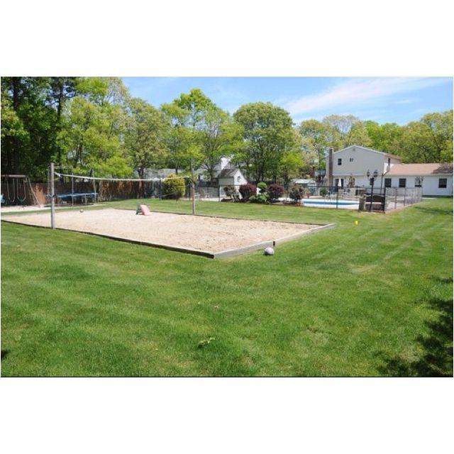 Beach volleyball court/ kids sand box in the backyard ...