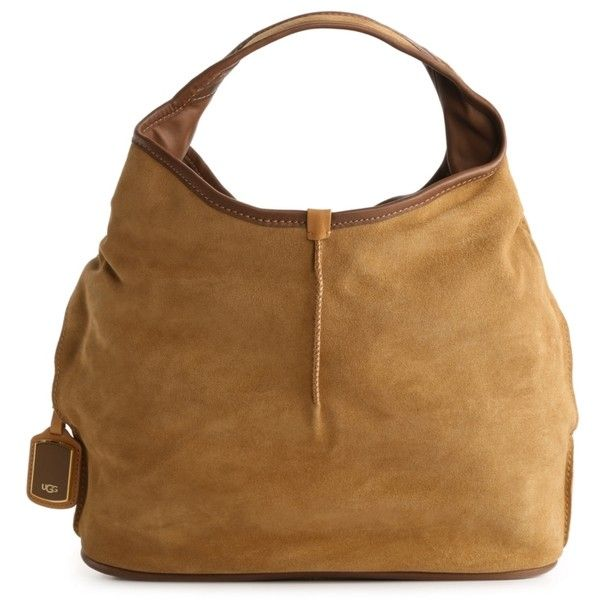 UGG Australia Classic Suede Hobo ($200) ❤ liked on Polyvore