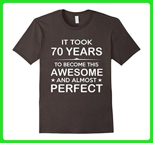 Mens Seventy 70 Year Old 70th Birthday Gift Ideas Her Him 2XL Asphalt