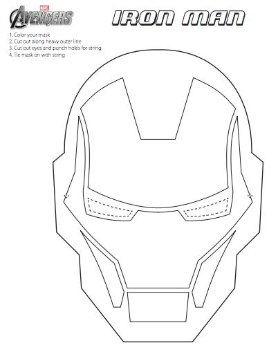 Modest image in iron man mask printable