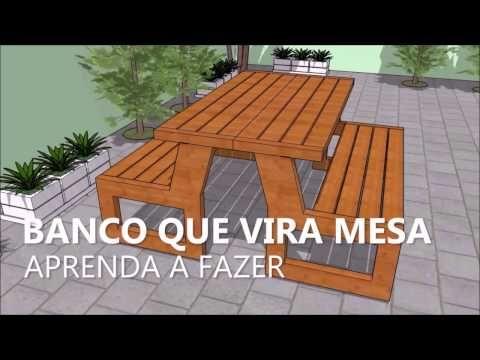 Banco Que Vira Mesa Projeto Faca Voce Mesmo Youtube In 2019