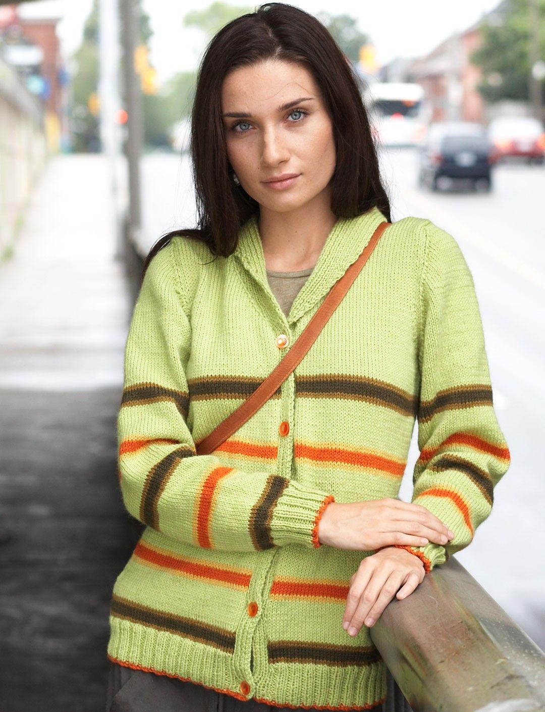 Yarnspirations.com - Patons Shawl Collar Cardigan - Patterns ...