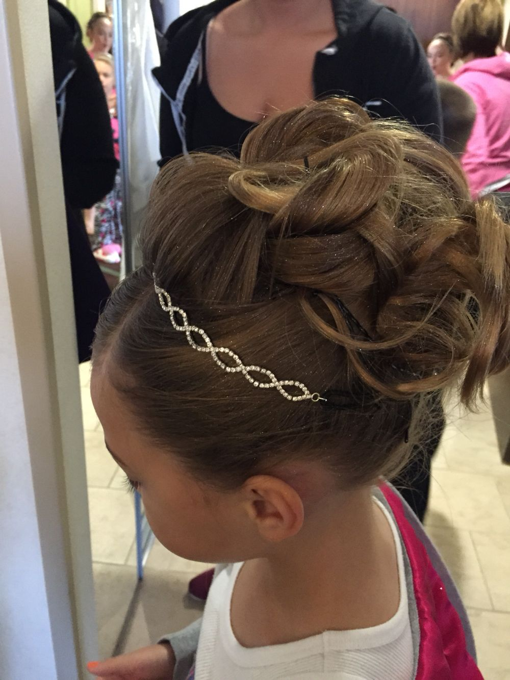 childs updo flower girl hairstyles