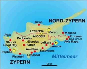 Zypern Map Jpg 350 280 Zypern Griechenland Mittelmeer
