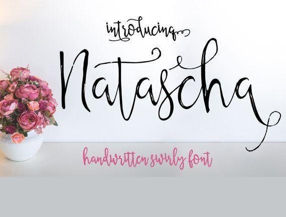 Calligraphy swirly font script font digital download swash font