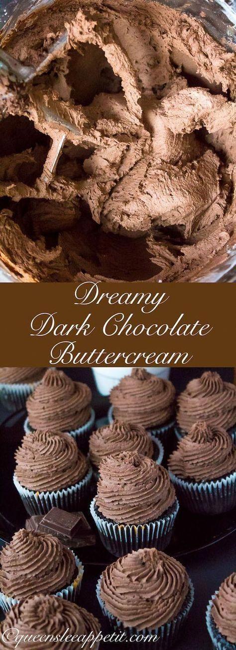 Verträumte dunkle Schokolade Buttercreme Zuckerguss ~ Rezept | Queenslee Appetit #lemonfrosting