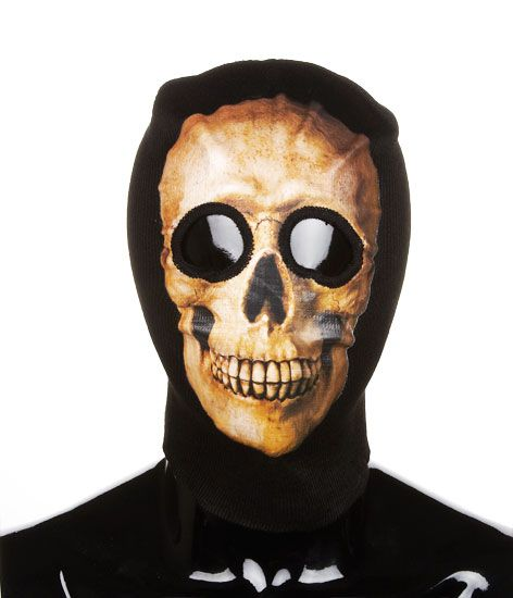 d974121bdf4 Real Skull Two Hole Ski Mask Beanie Balaclava