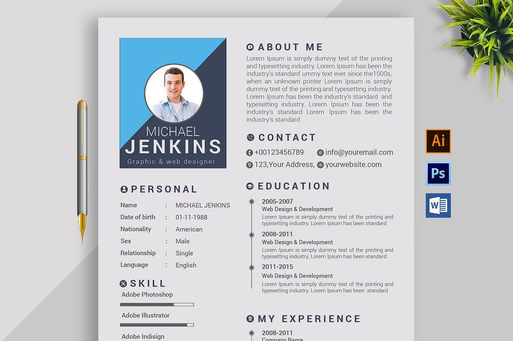Resume Template and Cover Letter by buzzAart on