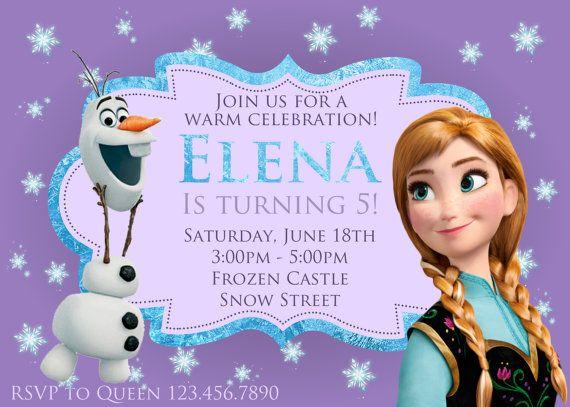 Frozen Anna Invitation Frozen Party by ColorfulPaperPrints, $1000 - invitation birthday frozen