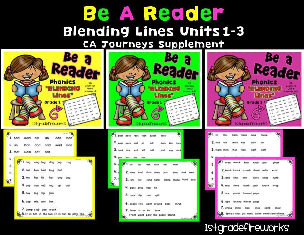 https://www.teacherspayteachers.com/Product/Grade-1-Blending-Lines-Unit-3-2731148 Phonics pages for blending words. Fluency practice. Phonics word families. 15 pages per unit. Units 1-3... each sold seperately