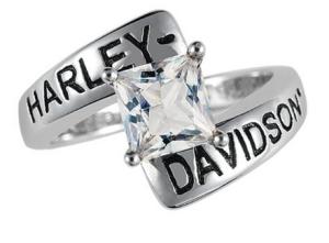 His and Hers Harley Davidson Wedding Rings Badass Biker Rings