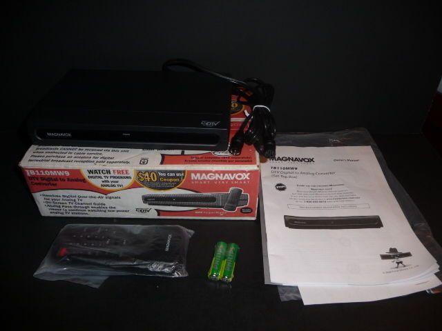 magnavox dtv digital to analog converter tb110mw9 with remote rh pinterest co uk magnavox tb110mw9 manual .pdf magnavox tb100mw9 manual