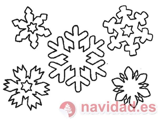 plantillas de navidad | Plantilla copos de nieve para tu árbol de ...