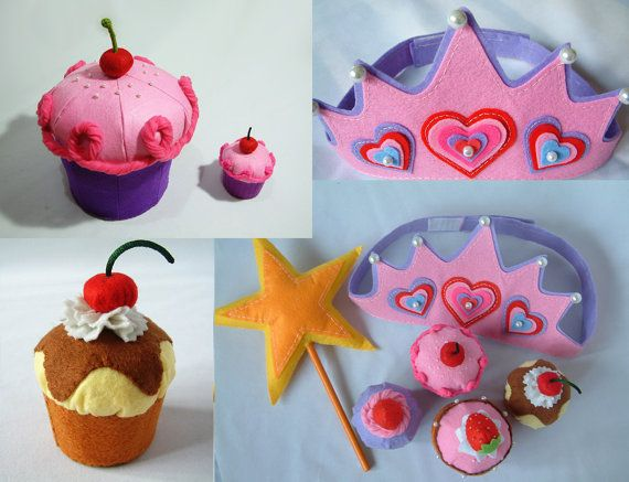 How Cute Would It Be To Have Felt Cupcake Party Favors Instead Of A Bunch Real Sugar Send Home With Guests