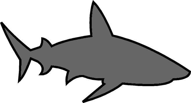 Dibujos Animados De Tiburones Para Colorear: Dibujos De Aletas De Tiburon