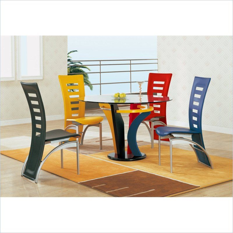 Neville Casual Multi Color Dining Table D5443dt Modern Dining